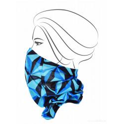 Multifunkčna šatka  modra - origami