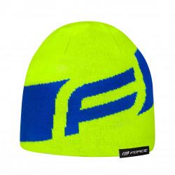 Zimna čiapka FORCE  DRAFT  pletena, fluo-modra