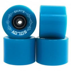 Kolieska na Penny board NEON BLUE 60 x 45mm 85A, sada 4ks, s ložisky