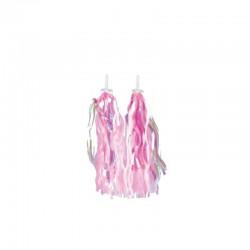 Ozdobné strapce do riadidiel, ružové