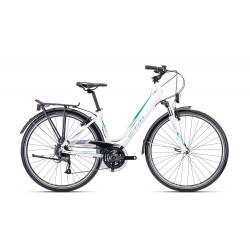 Dámsky bicykel CTM AMBER 1.0 matná biela/tyrkysová - SKLADOM