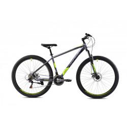 Horský bicykel CAPRIOLO OXYGEN matná šedá/žltá