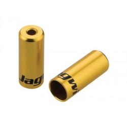 BOT192-2OJ koncovka otvorená 4mm, Al, zlatá