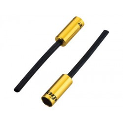 BOT061OJ koncovka bowdenu s trubičkou, 5 mm, Al, zlatá