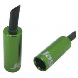 BOT060EJ koncovka bowdenu s ochranou, Al, 5mm, Al, zelená