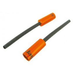 BOT051NJ koncovka bowdenu s trubičkou, 4,5 mm, Al, oranžová