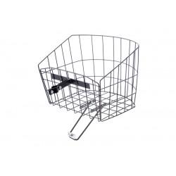 Košík drôtený na riadidlá s objímkou, polguľatý, čierny