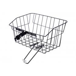 Košík drôtený na riadidlá s objímkou, veľký, čierny