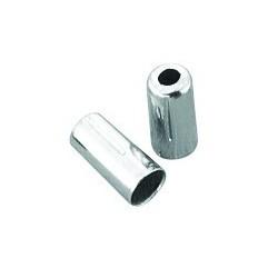 BOT115-2D koncovka otvorená 5mm, mosadzná pochromovaná