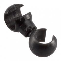 CHA046 držiak bowdenu S - plastový čierny- NIEJE SKLADOM