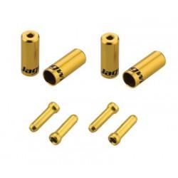CHA099-OJ,sada koncoviek 4,5mm, zlatá