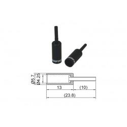 BOT723BJ, koncovka bowdenu s ochranou, Al, 4mm, čierna