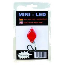 Osvetlenie zadné - blikačka mini- LED červná