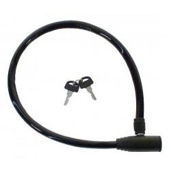 Zámok automatický lankový, 60 cm ,farebný