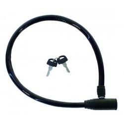 Zámok automatický lankový, 60 cm ,čierny