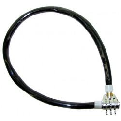 Zámok kódový lankový, 50 cm,čierny