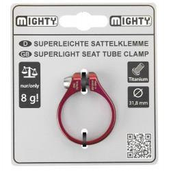 Podseldová objímka MIGHTY, 34,9 mm,červená