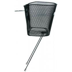 Košík drôtený na riadidlá s výstuhami, čierny