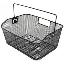 Košík drôtený na nosič oceľový, strieborný