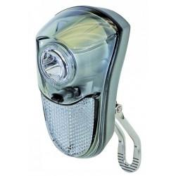 Osvetlenie predné SMART, 1-LED, nerez, batériové s vypínačom