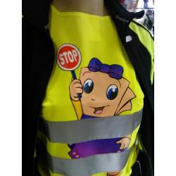 Detská reflexná vesta žltá