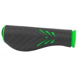 Rukoväte FORCE ERGO gumové, čierno-zelené.