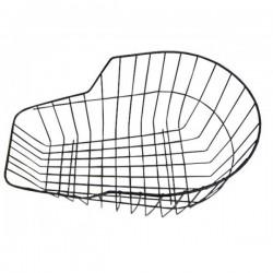 Košík zadný oceľ, na nosič, okrúhly