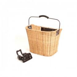 Košík predný ratanový, s clip-úchyt na predstavec