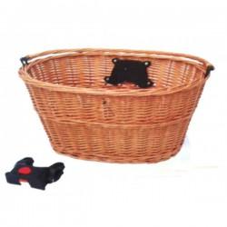 Košík predný prútený, s clip-úchyt na predstavec