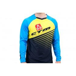 Dres Enduro, modrá/žltá S