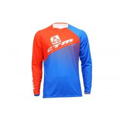 Dres Enduro, oranžová/modrá, XL
