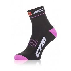 Ponožky CTM XC, čierna/ružová, 38-42