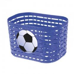 Košík predný plast, detský, modrý motív lopta