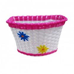Košík predný plast, detský, ružový