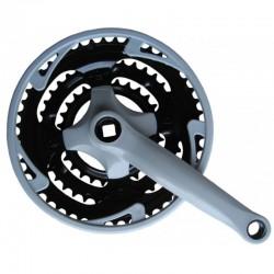 Prevodník 3 oceľ/plast 48/38/28,masívna kľuka,sivý