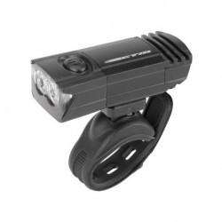 Osvetlenie predné CTM, 2 LED, 50 Lm, USB, čierne- NOVINKA