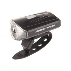 Osvetlenie predné CTM, 1 LED, 50 Lm, USB, čierne -NOVINKA