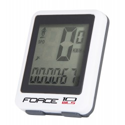 Tachometer  FORCE WLS 10 funkcí bezdrát, bielý
