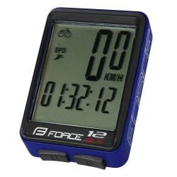 Tachometer FORCE WLS 12 funkčný, bezdrát. modrý