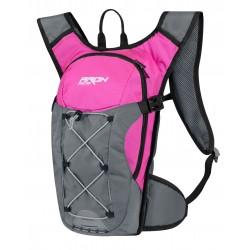 Batoh-ruksak  FORCE ARON ACE 10 l, růžovo-šedý