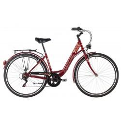 "Bicykel CORSO KENZEL mestsky ""28"" bordova farba"