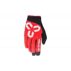 Rukavice CTM VICE, celoprstové, červené - L